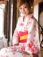 Natsuko Tatsumi Asian takes geisha dress off and shows racy body